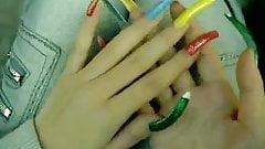 colorful long  nails