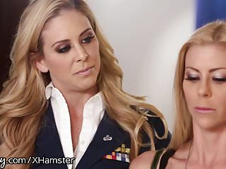 Men spanked by milfs Girlsway alexis fawx spanked by officer cherie