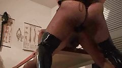 Hardcore strap-on action
