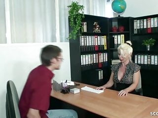 Tranny his first - German mature help young virgin boy with his first fuck