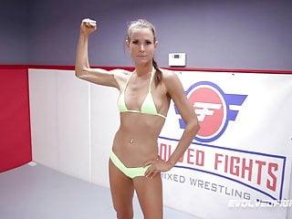 Lesbian wrestling bodybuilder video clips - Rocky emerson vs sofie marie rough lesbian wrestling fight