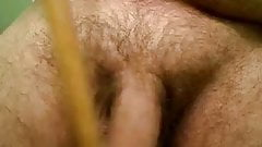 jackmeoffnow cbt dowel tap on limp low hanging dick erection