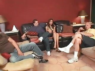 Wife fucking boos in front of cockholding husbands - Sexy latine wife fucks two in front of husband