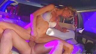 Limo fuck with cute blonde