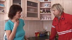 Horny MILF Chelsea gets a deep anal in kitchen