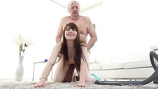 TeenMegaWorld - Old-n-Young - Old man makes sweetie kneel