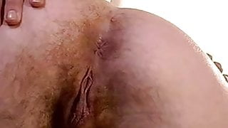 MILF Rears Her Hairy Pussy