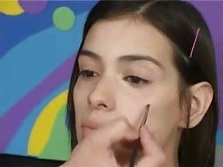 Permanent facial make up Make-up and a facial