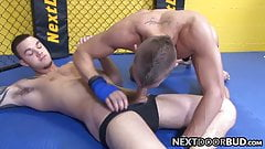 Athletic jocks Cliff Jensen and Steven Daigle anal fuck