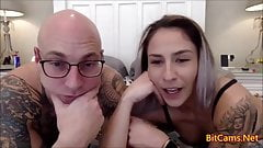 Couple first time live webcaming