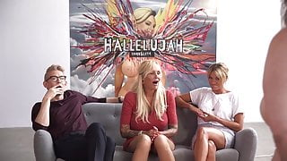 Looking at various types of tits in Danish reality show