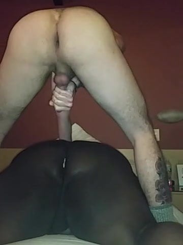 Fat Black Ass Riding Dildo