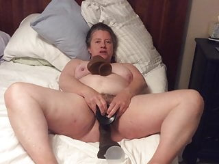 Dildo with foreskin Bbw mom with hairy pussy takes bbc dildo with foreskin