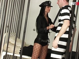 Horny gay cops - Hotbabesplus - horny cop black angelika fucks the prisoner
