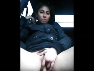 Shooshtime skank masturbates Skank finger bangs herself in car