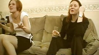 Amateur redhead fucked while her friend watches