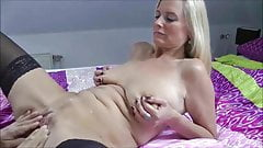 Wife gets fucked as cuck hubby watches then cleans up