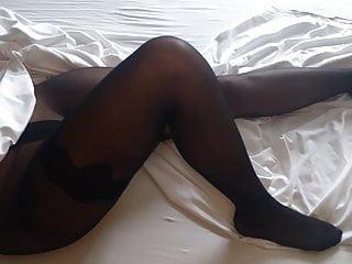 Black leg nylon sex - Alysha s nylon legs, feet ass in black fashion pantyhose