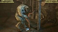 Monsters take turn to Fuck Lisa Hamilton (Animation)