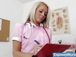 Xxx video gyn exam Sexy nurse venus fingers her cunt on gyn chair