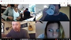 Big tits office lady forgets shes still on video conference