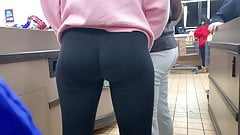 Athletic Teen Curvy-Firm Ass Candid Leggings
