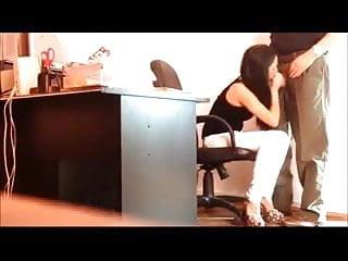 Brunette secretary sucks cock Hot brunette italian secretary sucks off her bosss cock