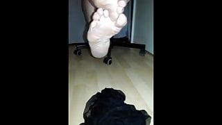 stepmom barefeet after smelly pantyhose