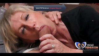 Attractive German Milf in Stockings Fucked