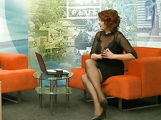 Amateur radio high defintion tv - Long legs in black pantyhose and heels on tv 0