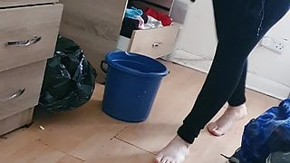 Step mom fucked through thongs and leggings by step son