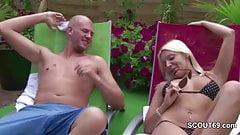 German Hot MILF Seduce Young Boy To Fuck at Pool