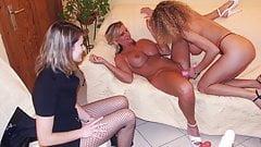 Lesbian teen with 2 hot amateur milfs - amateur compilation
