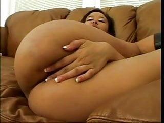 Annie k tits Sexy annie deep throats a big white cock couch then facial