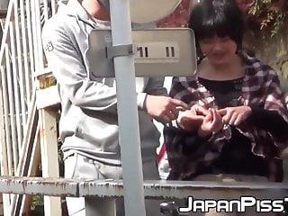 Japanese teenie porn Japanese teenie soaking herself up with warm pee