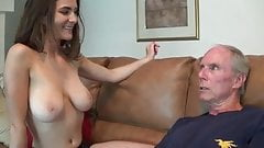 handjob to not her uncle