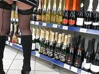 All asian stock market Seamed stockings upskirt in market 1