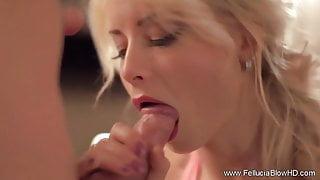 Art And Beauty Blowjob Blonde Cocksucker