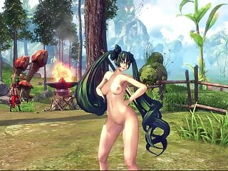Rihanna naked cartoon - Blade soul sexy naked dance. tribute me
