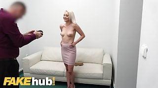 Fake Agent Desk fuck for petite blonde Marilyn Sugar