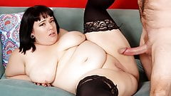 Chubby Alexxxis Allure Takes a Big Cock