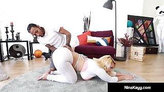 Nympho Nina Kayy Banged By Fat Ebony Cock!