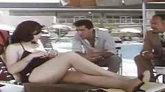 Egyptian film a woman reveals her charms at swimming pool
