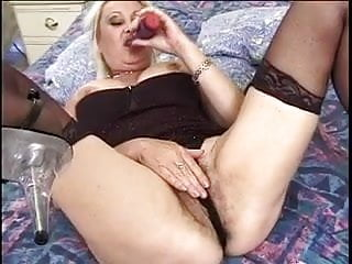 Sex black granny Mature blonde ditches dildo when black cock enters room
