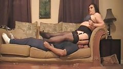 Britain Mistress facesitting some guy