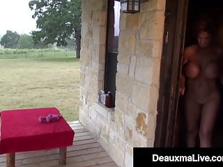 Naked fitness vids Naked mommy deauxma gets fit on the front porch