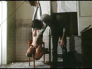 High heeled bondage - Strung up - vintage bondage breasts bound tight