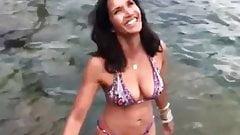 Padma Lakshmi in bikini in the water