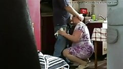 Hard sex in kitchen step mom and dad