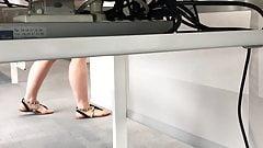 Spy Hot Legs at work